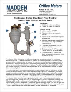 2 Continuous Blowdown Orifice Meter Brochure