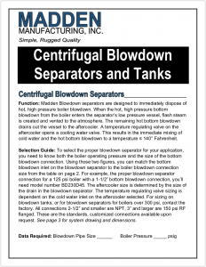 3 Centrifugal Blowdown Separators and Tanks Brochure